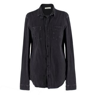Pierre Balmain Charcoal Denim Shirt