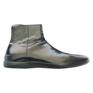 Prada Men's Patent Ankle Boots