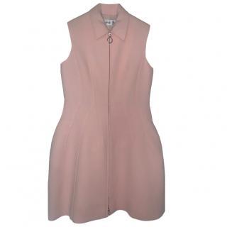 Dior Pink Wool & Silk Structured Dress