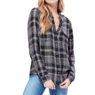 Paige Mya Shirt- Black Evening Sand Reeves Plaid