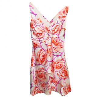 Versace Floral Print Silk Summer Dress