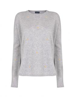 Malin Darlin Grey Cashmere Hundred Crowns Sweater
