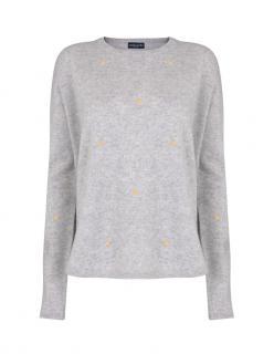 Malin Darlin Grey Cashmere Hundred Crowns Sweater