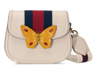 Gucci Butterfly Linea Totem Small Leather Shoulder Bag
