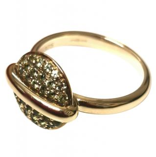 Fiorelli peridot button ring