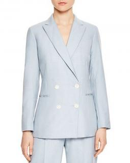 Sandro Elvi Double Breasted Blue Blazer
