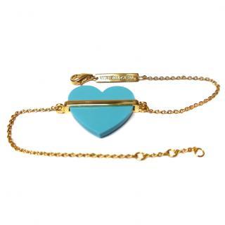 Victoria Casal Turquoise Diamond Heart Bracelet