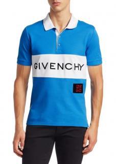 Givenchy Logo Polo Shirt in Blue