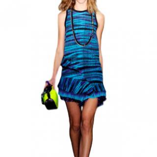 Proenza Schouler blue micro shift runway dress