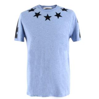 Givenchy Blue Stars #74 Jersey T-shirt