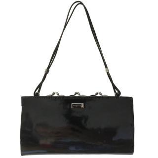Sergio Rossi Black Patent Bag