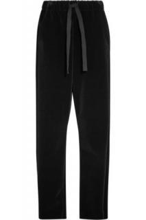 MMG wide leg navy blue velvet trousers