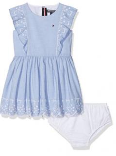 Tommy Hilfiger Girl's 9-12m Embro Ruffle Dress