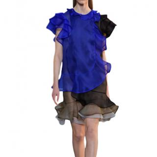 Christopher Kane runway layered chiffon dress