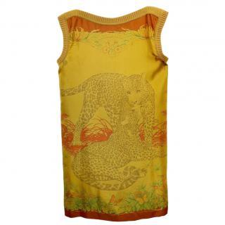 Hermes Jungle Love sleeveless silk mini dress