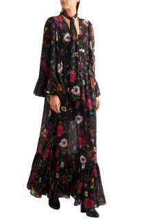 MCQ printed floral chiffon maxi dress