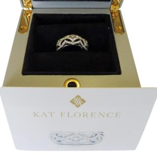 Kat Florence D Flawless Diamond and 18K White Gold Ring