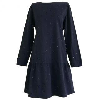 Chianti and Parker navy blue drop waist dress