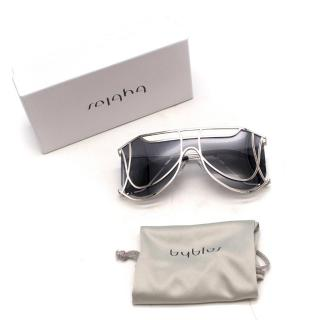 Byblos Crystallised Silver Sunglasses