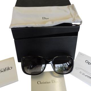 Dior black acetate sunglasses