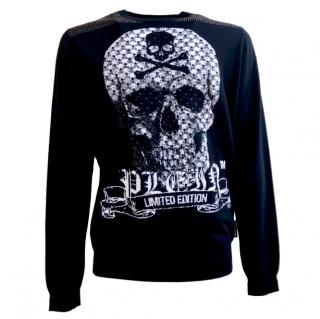 Philipp Plein skull print long sleeved top