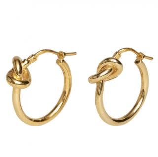 Celine small gold finish hoops