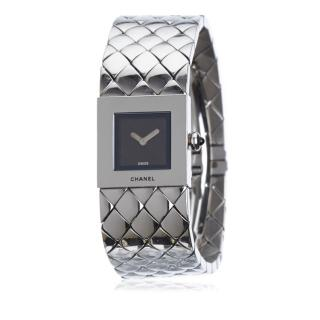 Chanel Stainless Steel Quilted Mademoiselle Watch
