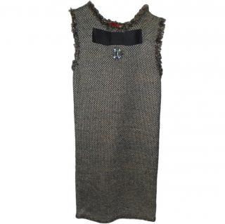 Lanvin jewel detail wool shift dress