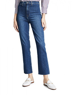 J Brand Stovepipe  High-rise Straight Blue Jeans