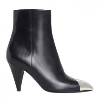Celine SS19 Triangle Heel Black ankle boots