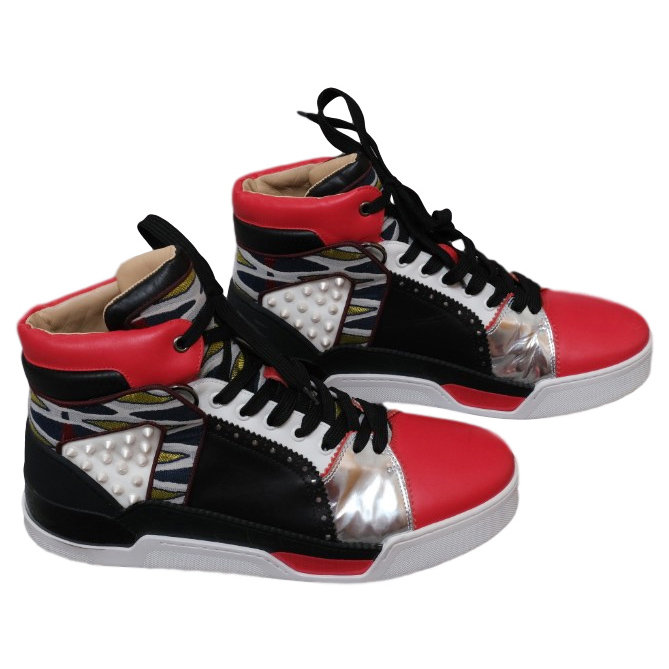 sports shoes 20c6e b6374 Christian Louboutin Black and red Loubikick trainers