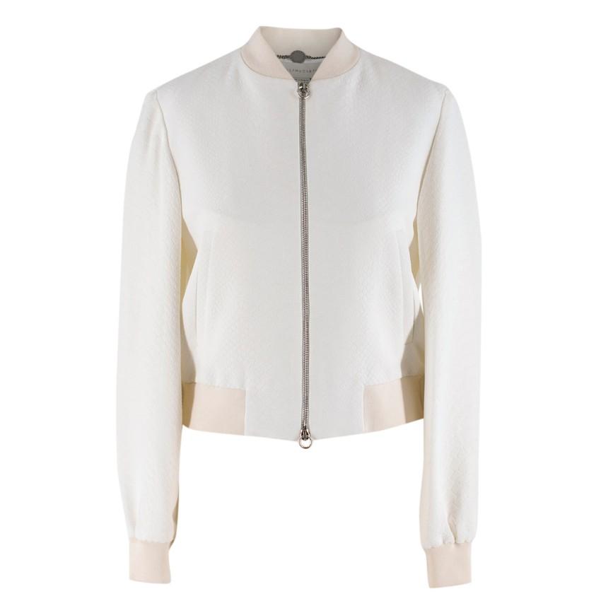 e4b024633 Stella McCartney White Python Pattern Bomber Jacket