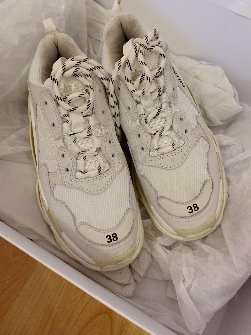 Balenciaga Triple S Size 38 White