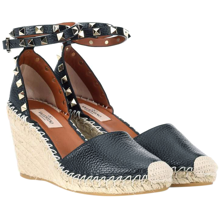 Valentino navy blue rocketed espadrilles