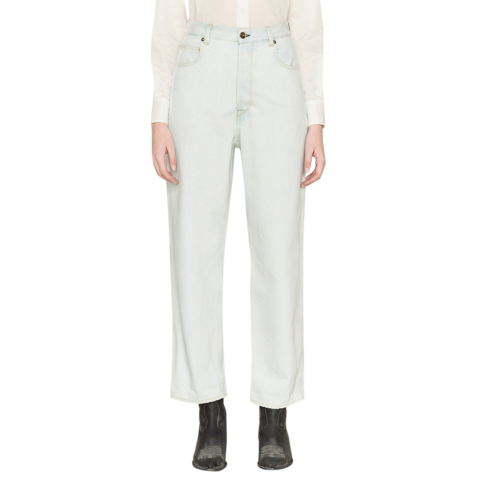 Golden Goose Kim oversized stone washed bleached jeans