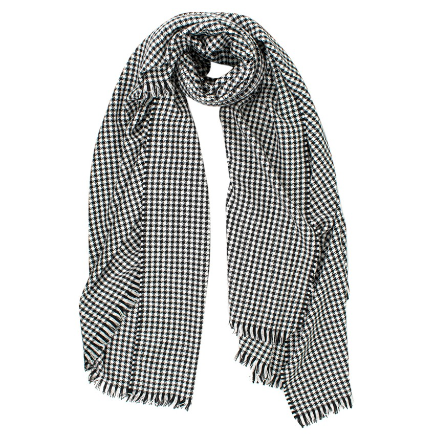 Connolly Cashmere Houndstooth Print Blanket Shawl