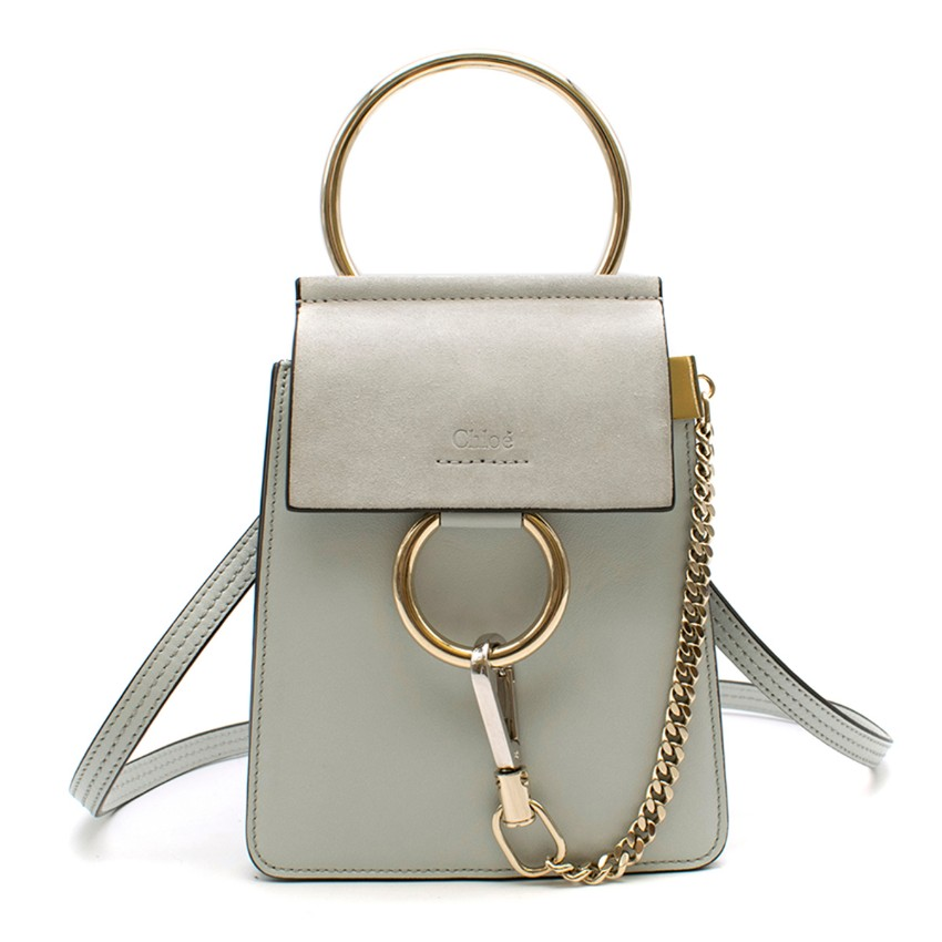 Chloe Pale Grey Faye Small Bracelet Bag