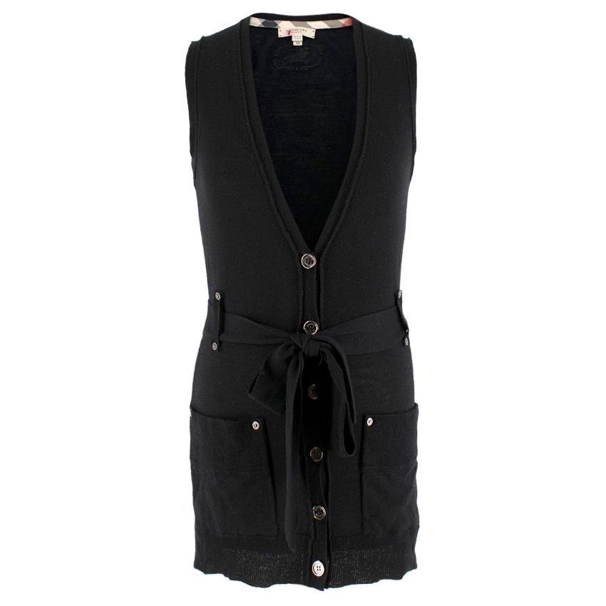 Burberry Wool blend Black Sleeveless Cardigan