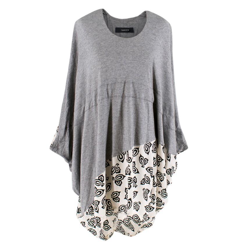 Thakoon Silk Grey Oversized Tunic Top