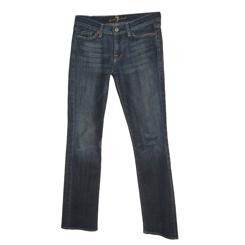 7 For All Mankind Blue Boot Cut Jeans