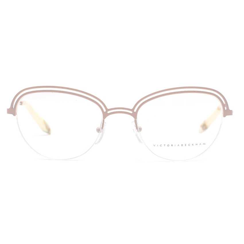 Victoria Beckham Double Metal Butterfly Mink Pink Optical Glasses