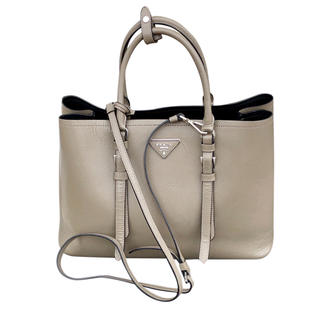 Prada Saffiano Leather Double Strap Galleria Tote