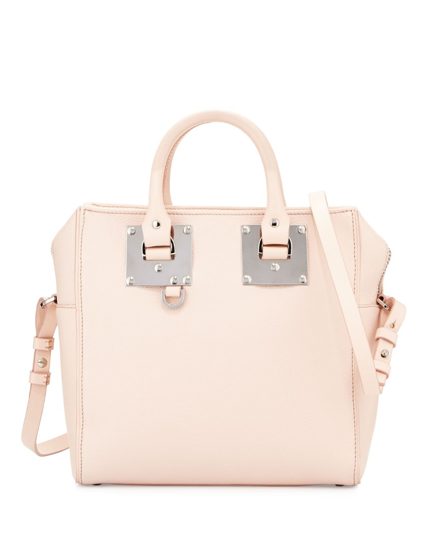Sophie Hulme blossom pink square Cromwell tote bag