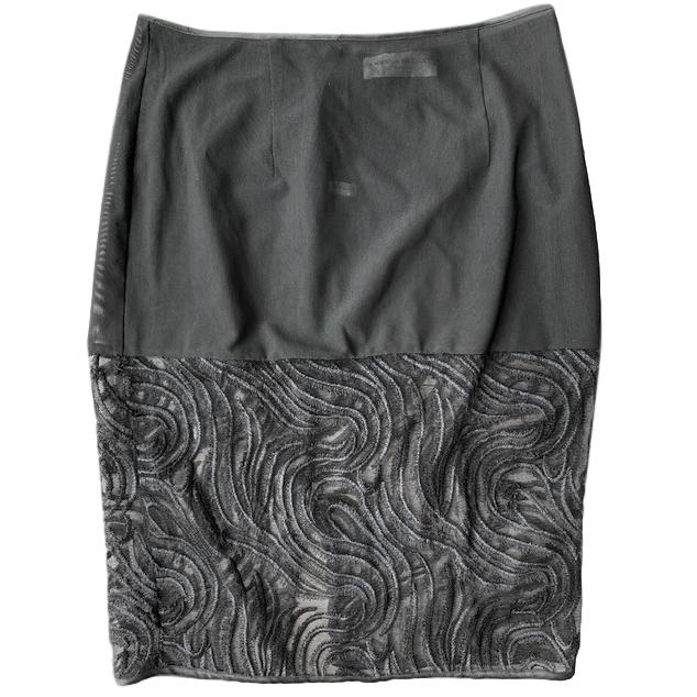Amanda Wakeley Black Sheer Slip Skirt
