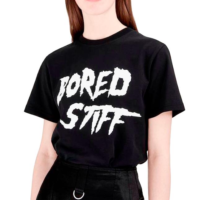 McQ Bored Stiff Black Logo T-Shirt