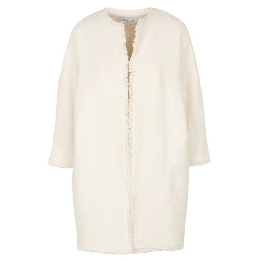 Gerard Darel round neck ecru tweed coat