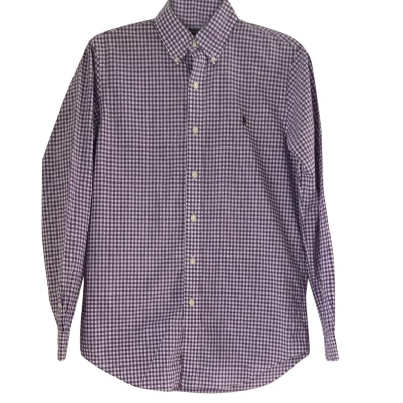Ralph Lauren Purple & White Check Shirt