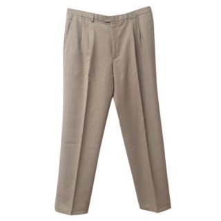 Burberry men's camel dress trousers