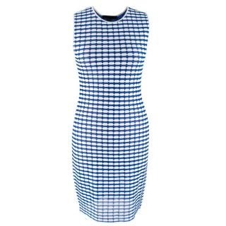 Alexander Wang Blue & White Bodycon Mini Dress