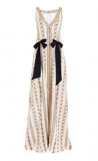 Temperley Lurex striped maxi dress with pockets